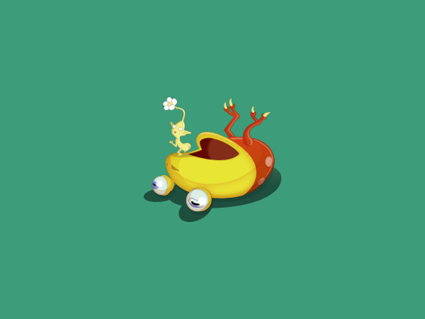 Desktop Wallpaper: Pikmin Teabag